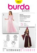 2463 Burda Pattern: Girls' Fairy and Castle Princess Costumes
